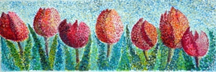 gepointilleerde tulpen2